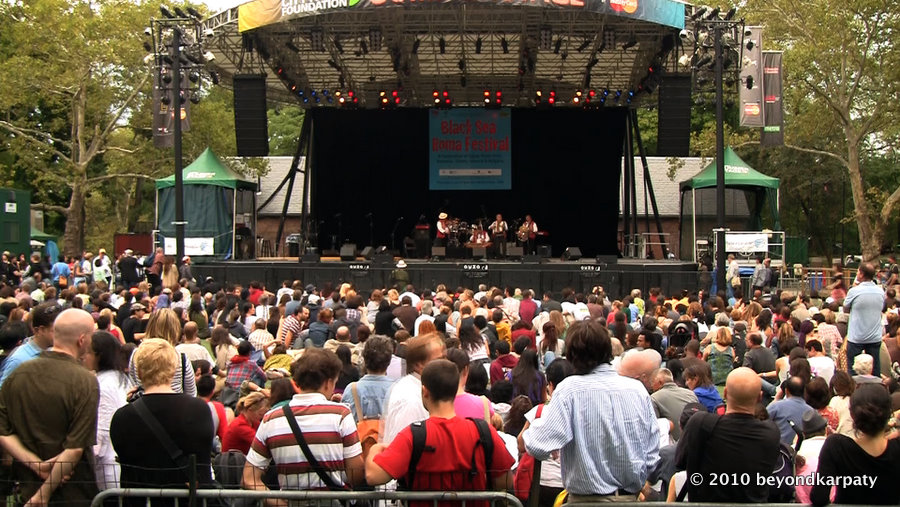 The concert at Summer Stage in Central Park.